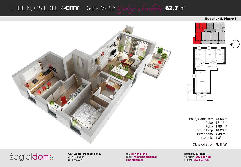 Mieszkanie Na Sprzedaż 3 Pokoje 64m2 Gethomepl